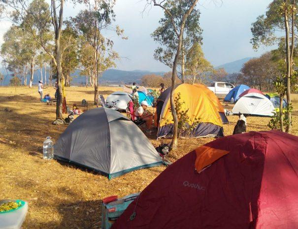 zona de campamento en cabanas del tio tavo amealco
